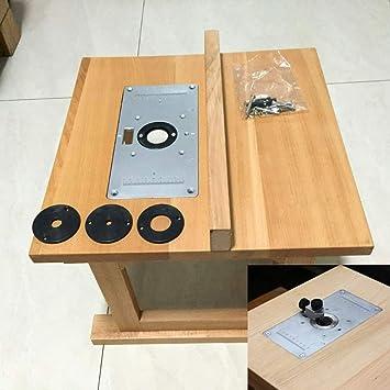 WE-WIN Placa de inserción de aluminio para mesa de caravana con 4 ...
