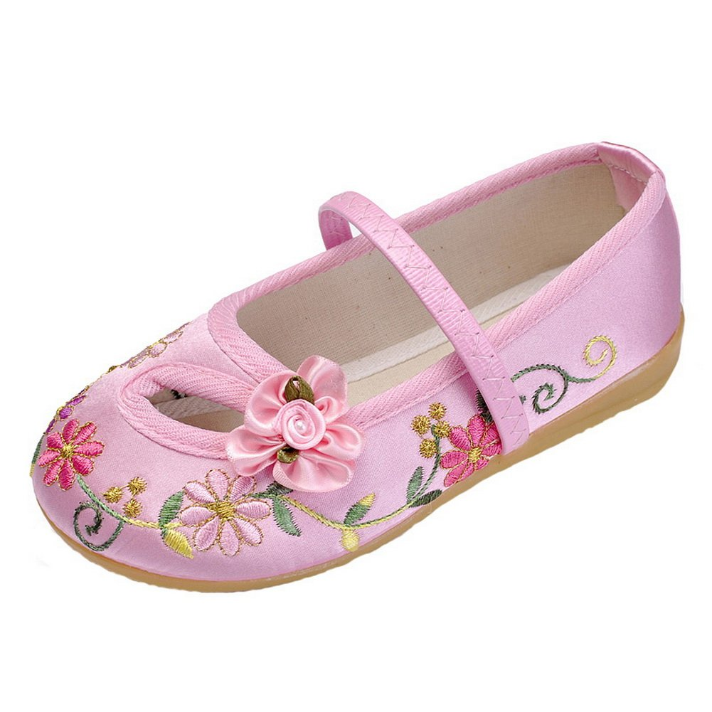 Amazon.com | Vokamara Folk Style Girls Chinese Flower Embroidery Ballet Flat Shoes | Flats