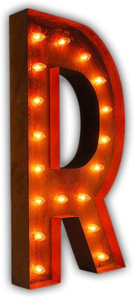 Amazon Com Vintage Marquee Lights Letter R 36 The Original Home Kitchen