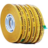 WOD ATG-7502 General Purpose ATG Tape, Adhesive Transfer Tape Glider Refill Rolls Clear Adhesive on Gold Liner (Acid Free and Available in Multiple Sizes): 1/4 in. wide x 36 yds. (Pack of 6)