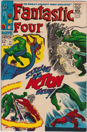 Fantastic Four #71 Silver Age Marvel Comic
