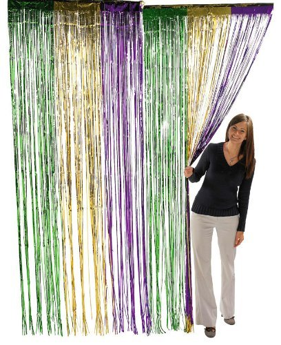 Fun Express Metallic Mardi Gras Fringe Curtains (2-Pack)
