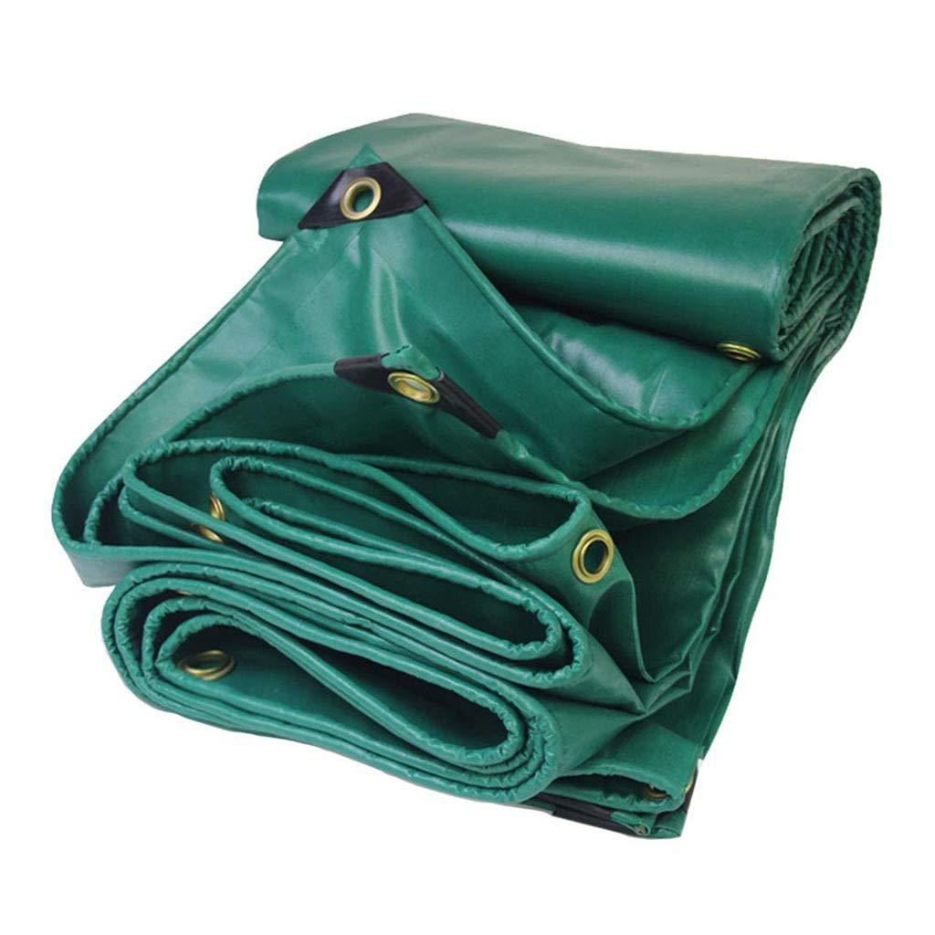 ターポリン グロメットが付いているRainproof Tarpポリ塩化ビニールの防水ターポリンの日焼け止めは屋内および屋外の、450g / mの²の緑のための布を流しました (サイズ さいず : 5mx10m) B07SCZ1WV9  5mx10m