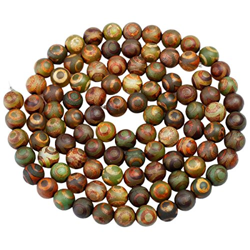 (rockcloud Yellow&Green Fire Agate Loose Beads Round 8mm Approxi 14