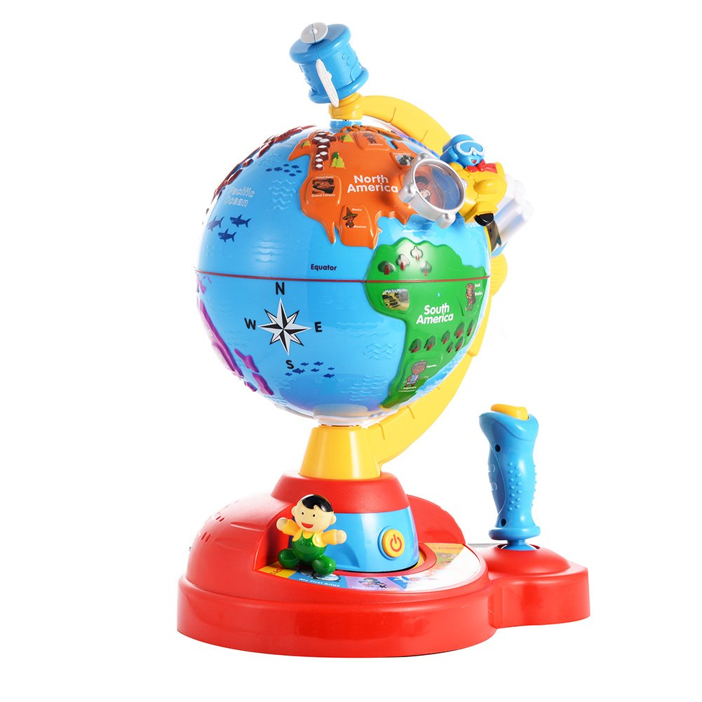 Ocamo Smart Globe Adventure Educational World Geography Kids Fly and Learn Globe - Learning Toy
