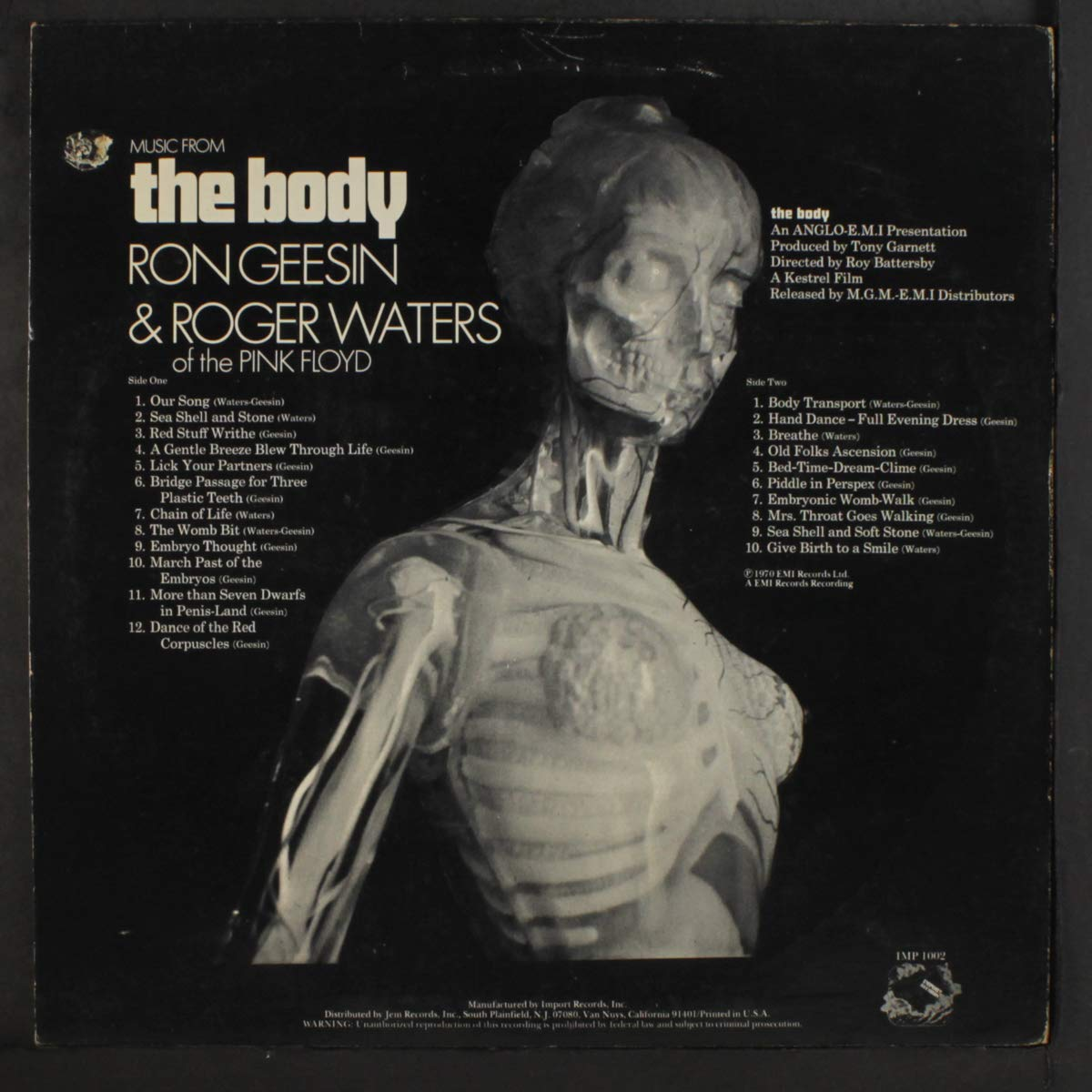 music from the body LP: RON GEESIN & ROGER WATERS: Amazon.es ...