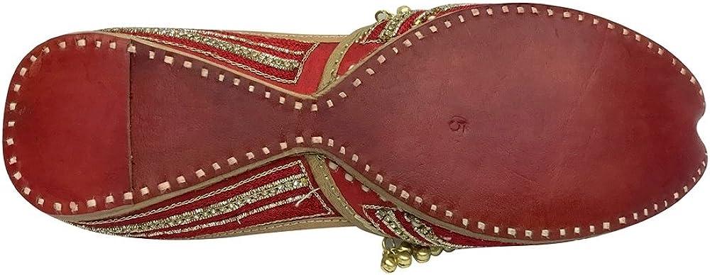 Step n Style Women Khussa Shoes Jutti Ballerina Ballet Flats Slipper Beaded Sandals