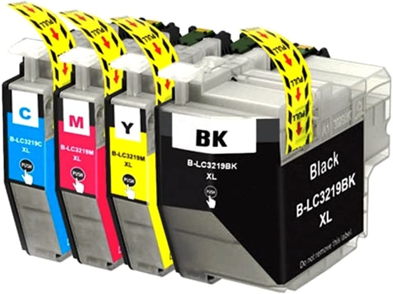 Easyink Set Of 4 Ink Cartridges Compatible With Brother Lc 121 Lc 123 3217xl 3219xl 1 Black 1 Cyan 1 Magenta 1 Yellow Bürobedarf Schreibwaren