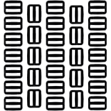 YGDZ 100Pcs 1 Inch Plastic Triglides Slides