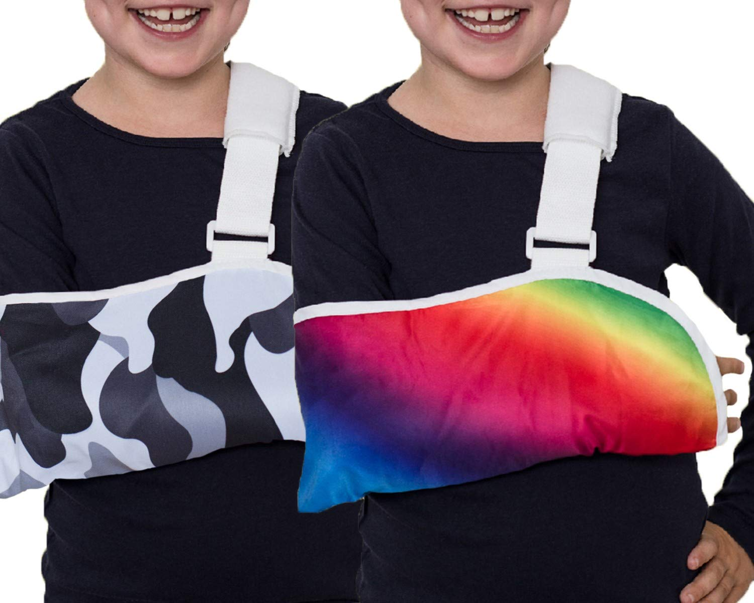 Crazy Casts Arm Sling for Kids - Childrens Arm Support Sling   Premium Designer Arm Slings for Kids for Broken Collarbone or Cast Cover   Small to Large Size for Boys Girls Youth Ages 4+ by Crazy Casts Pty Ltd