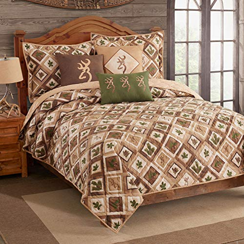 Browning Buckmark Nature Buckmark Quilt Set by Kimlor (King Quilt with 2 King Shams 110W x 96L)
