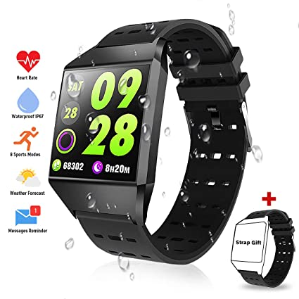 TagoBee TB10 Fitness Tracker IP67 Waterproof Smart Watch with Blood Pressure Heart Rate Monitor Pedometer Calories Counter Touch Screen Bluetooth ...