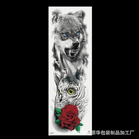 Tatuaje de brazo completo Stick Angel Eye Rose Flower Big Flower ...
