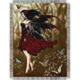 Nene Thomas - Flamenco Fairy Woven Tapestry 48x60 Throw Blanket