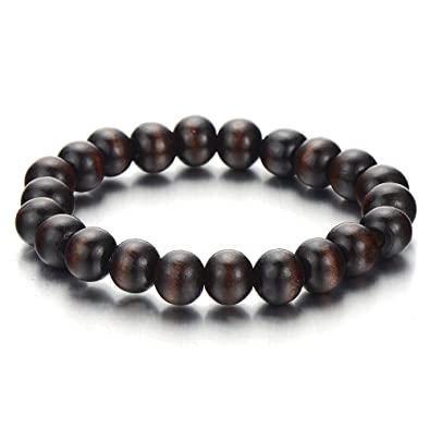 rosewood bracelet matte wood gold the brown products reserve classic black onyx from bead dark