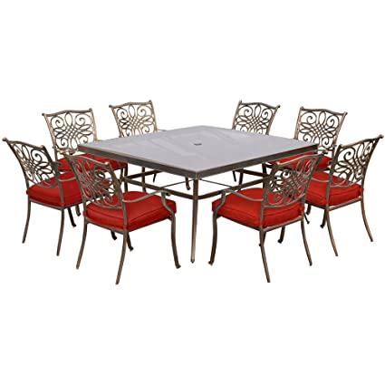 Amazoncom Hanover Traddn9pcsqg Red 9 Piece Traditions With 60