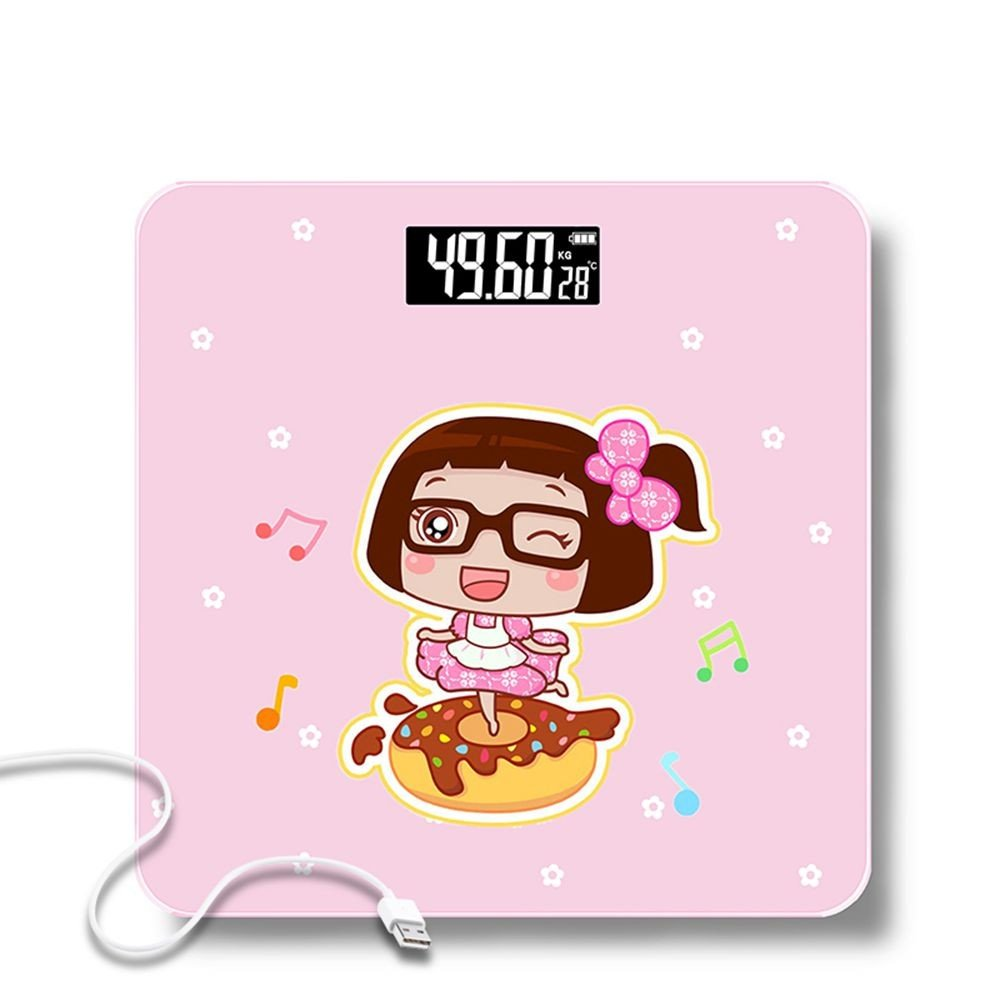 JTHKX Weight Scales Household Adult Fat Height Weight Loss Scale Electronic Household Bathroom Scale Precision Body Scale,Dance