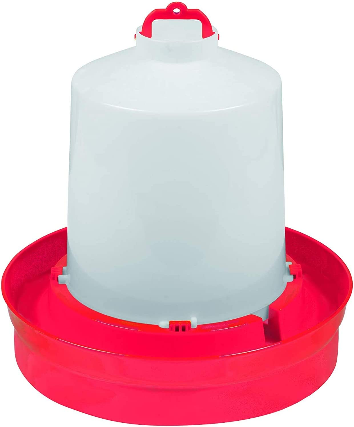 2 Gallon 2 Pack Red Little Giant DBW2 Deep Base Automatic Poultry Waterer Dispenser for Chickens /& Birds