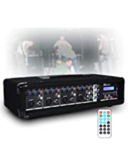 Power Dynamics 4 Channel 800w Bluetooth Mixer Amplifier with Remote for Live PA Stage DJ Bands