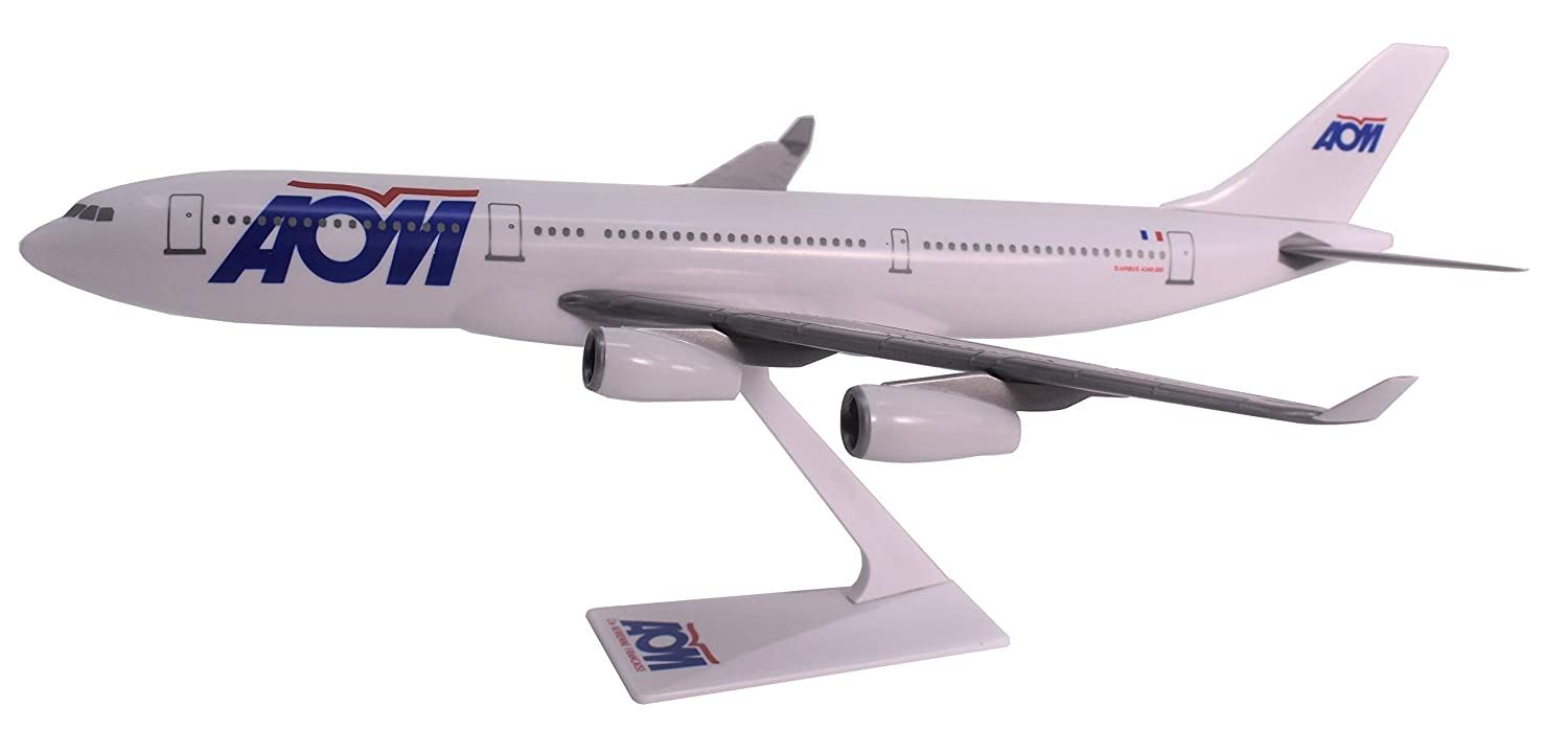 Flight Miniatures AOM Air Outre Mer French Airlines Airbus A340-200 1:200 Scale Display Model with Stand Genesis International