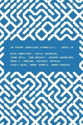 10 PRINT CHR$(205.5+RND(1)); : GOTO 10 by Nick Montfort (Nov 16 2012)