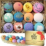lifearound2angels bath bombs gift set 12 usa made fizzies, shea & coco butter dry skin moisturize,