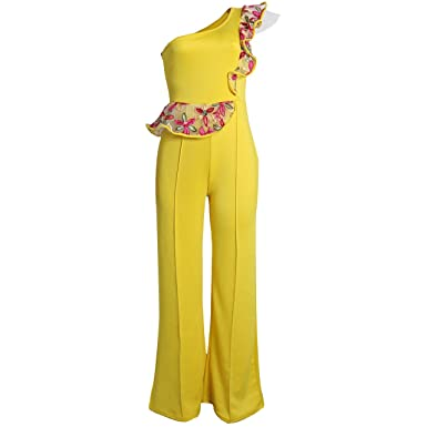 Women's Clothing New Arrival Sexy Ruffed Zipper Asymmetrical Solid Short Sleeve Women Jumpsuits Women Rompers