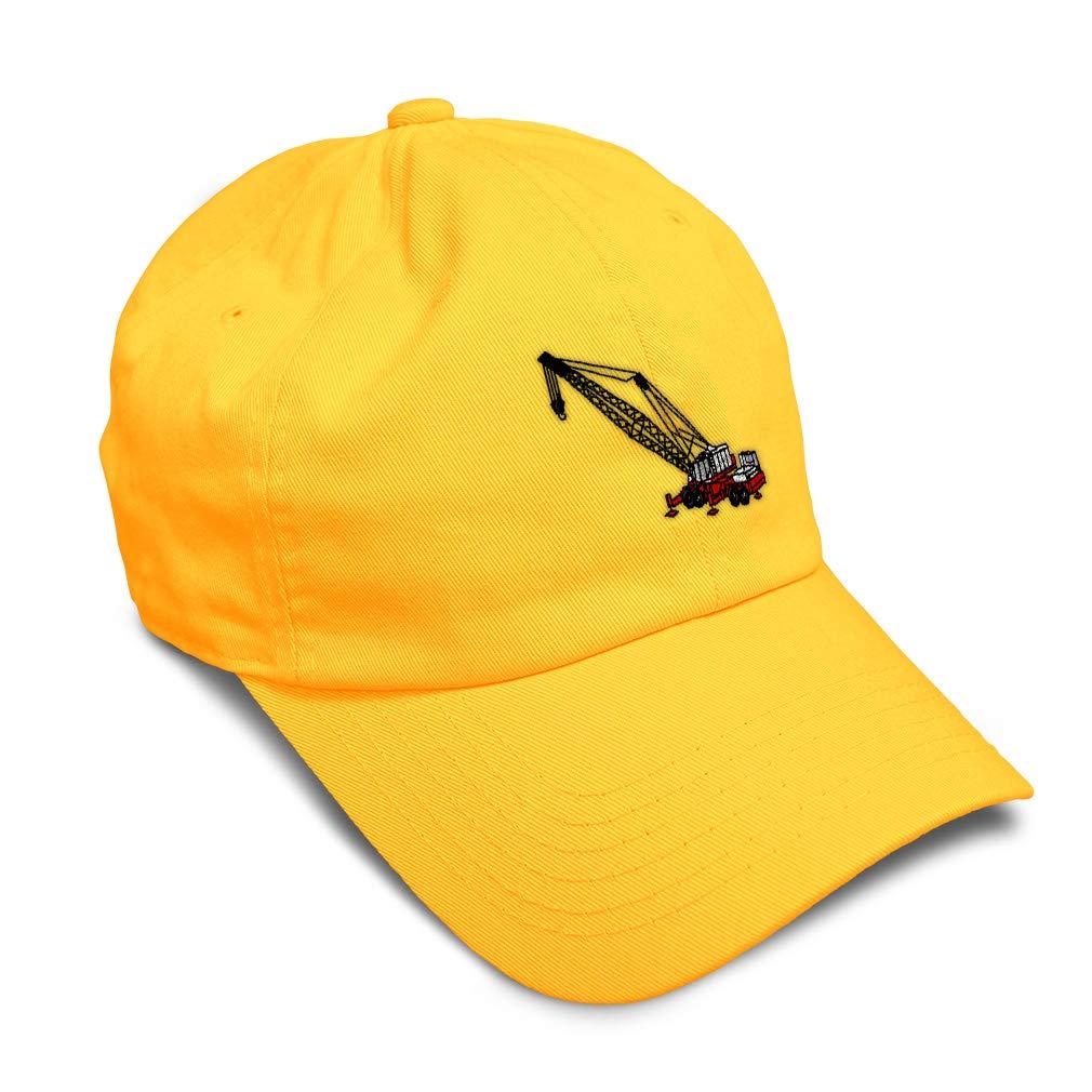 Custom Soft Baseball Cap Crane Embroidery Twill Cotton Dad Hats for Men /& Women