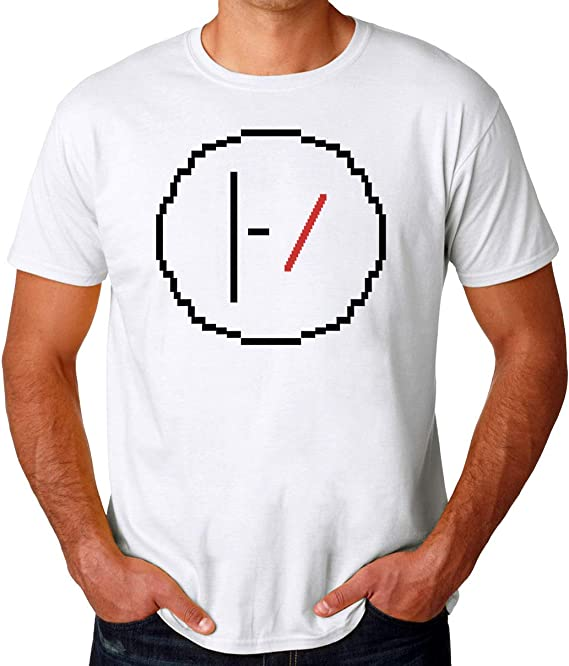 Wicked Design Twenty One Pilots Logo Pixelated Camiseta para Hombres: Amazon.es: Ropa y accesorios