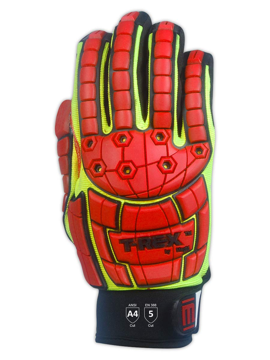 MAGID TRX647XXL Primal Series | Cut Level A4 M-Force Defense TPR Impact Work Gloves, Size 11/XXL, (1 Pair) by Magid Glove & Safety (Image #3)