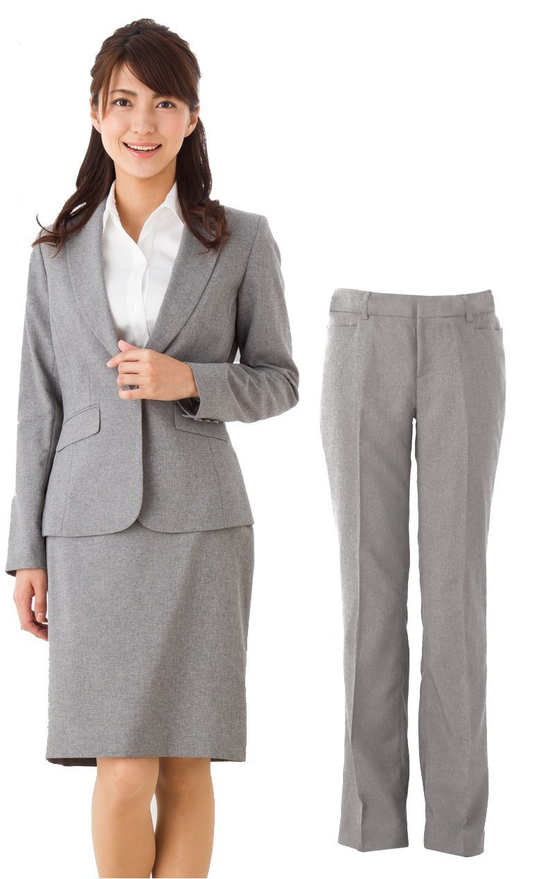 (アッドルージュ) スーツ レディース 3点セット タイトスカート パンツ ジャケット 洗える 洗濯 消臭抗菌【j5001-5002】 B00R4EPFSC 9号|【A/1つボタン】ライトグレー 【A/1つボタン】ライトグレー 9号