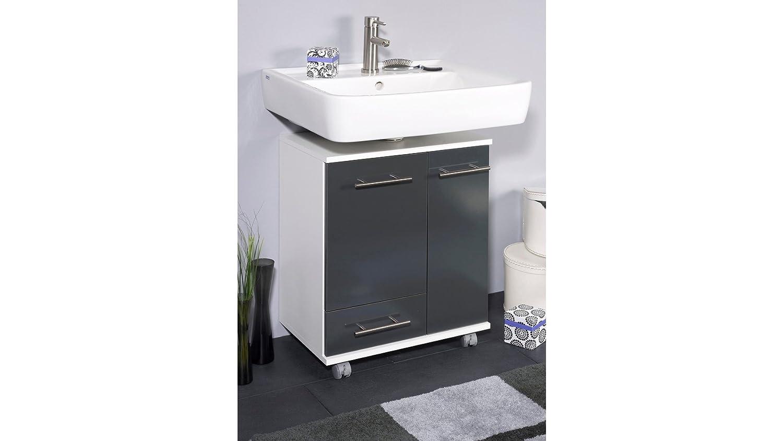 Schildmeyer Waschbeckenunterschrank Ken Breite 50 Cm Anthrazit