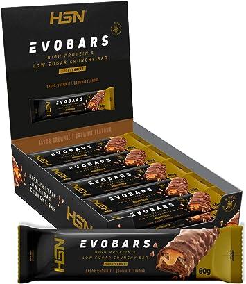Barritas de Proteína de HSN Evobars | Snack Saludable | Rica en Proteínas + Bajas en Calorías + Bajas en Carbohidratos + Textura Crujiente + Sin ...