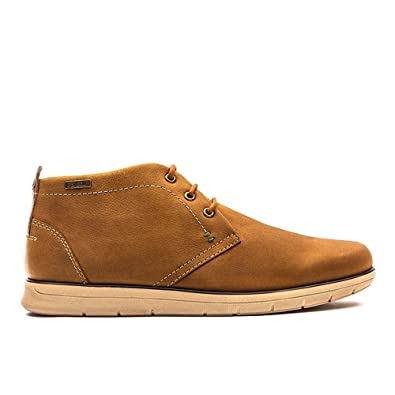 5a95ef1f938 Barbour Mens Bowlam Chukka Nubuck Cognac Casual Lace Up Chukka Boots ...