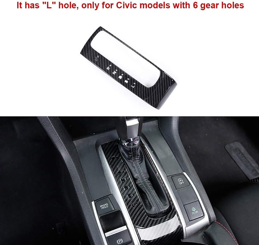For Honda CIVIC 2016-2018 ABS Red Gear Shift Box U Shape Frame Trim *1
