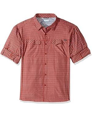 Men's Big-Tall Silver Ridge Plaid Long Sleeve Shirt, Rusty, 3X