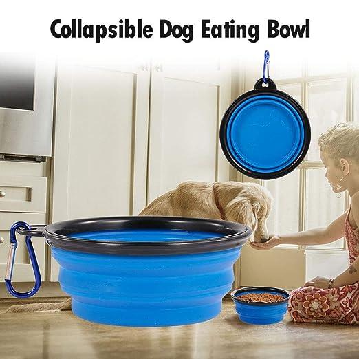 Fesjoy Cuenco de Perro Plegable Comedero para Mascotas para Perros ...