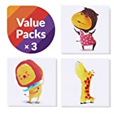 "Amazon Price History for:9cmZoo Small Kids Room Decor Canvas Art, Room Decor For Teen Girls, Dorm Room Decorations, Baby Room Decor, Nursery Wall Decor, Animal Themed Art Printings, Set of 3 (5.9""x5.9"", Lion, Hippo, Giraffe)"