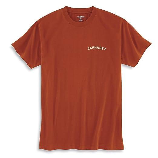 de2c0d7b Carhartt Men's Graphic Barn Short Sleeve T-Shirt,Red Orange (Closeout),