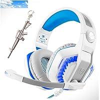 Pro Stereo Gaming Headset para PS4 Xbox One PC, auriculares de diadema con sonido envolvente de graves profundos con…