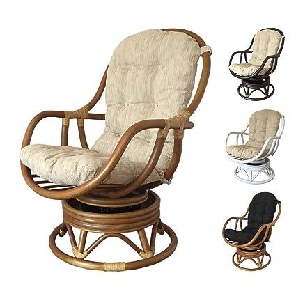 Stupendous Rattan Swivel Rocking Chair Erick With Cushion Light Brown Beige Cushion Cjindustries Chair Design For Home Cjindustriesco