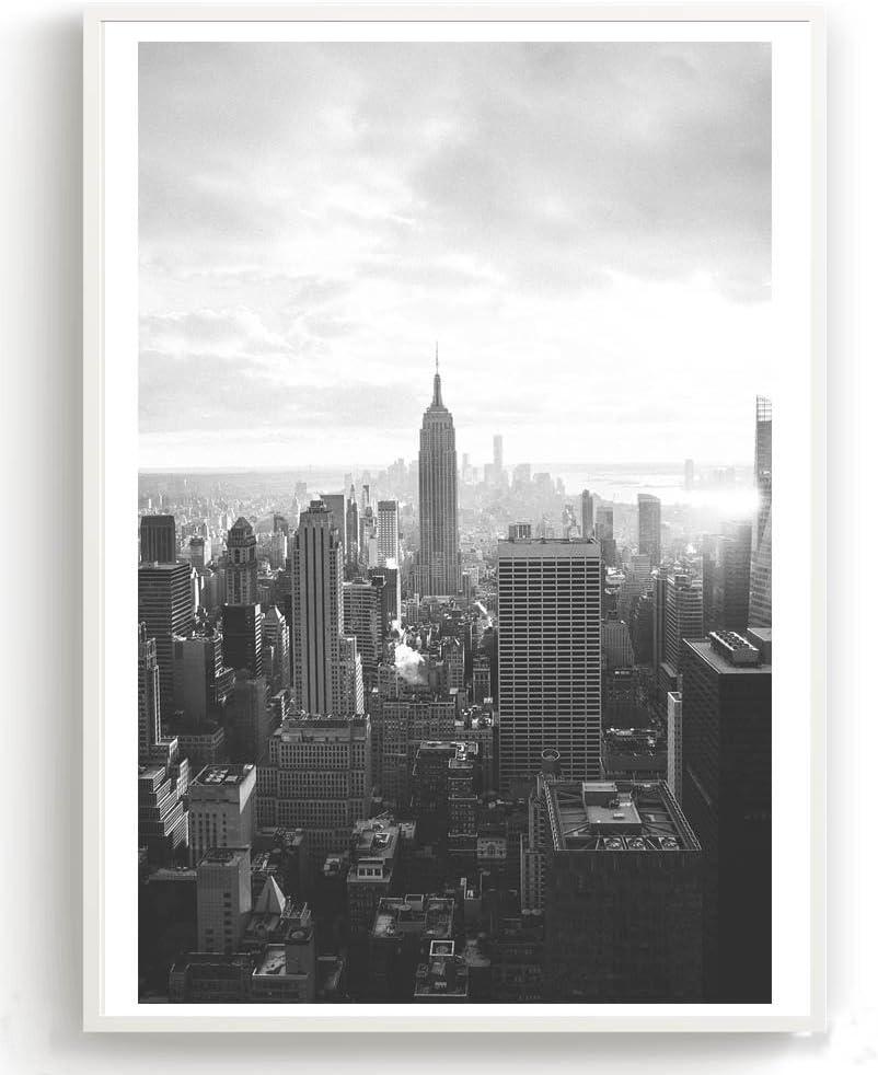 27 x 42 cm Flanacom Motivo scandinavo Carta Premium Stampa Artistica in Bianco e Nero Formato A3 Set di 2 Poster di Design con Stampa Lucida A3 Motivo Strade di New York ohne rahmen