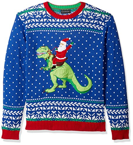 T Rex Christmas Sweater.Blizzard Bay Men S Santa Riding T Rex Ugly Christmas Sweater