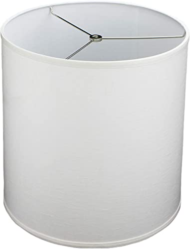FenchelShades.com Lampshade 14 Top Diameter x 15 Bottom Diameter x 15 Slant Height with Washer Spider Attachment for Lamps with a Harp Designer Off White