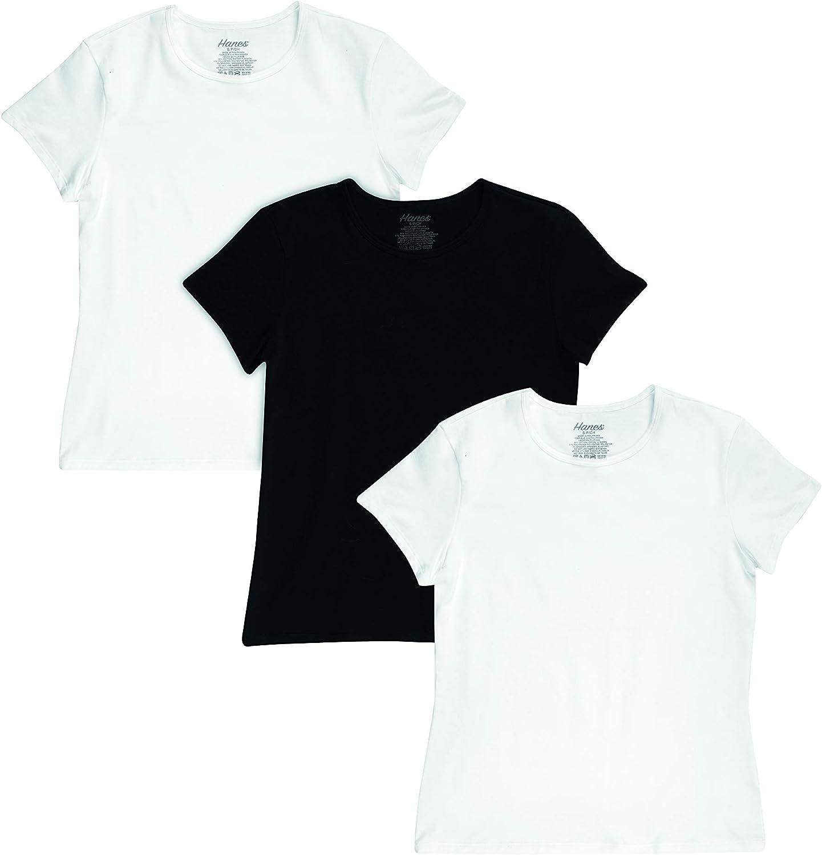 Hanes Women's Crewneck Tee 3-Pack: Clothing