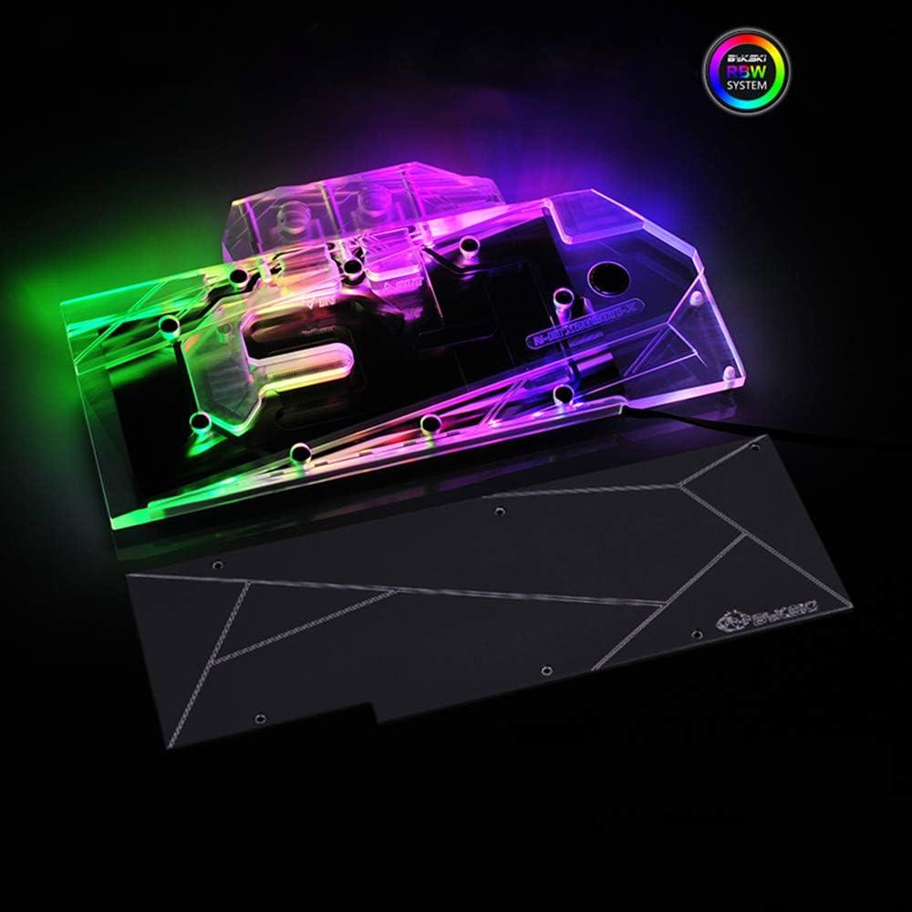 B BYKSKI RBW LED GPU VGA Water Cooling Block for NVIDIA ASUS MSI EVGA Galax GIGABYTE Zotac Colorful PNY MAXSUN Palit RTX 2080Ti/2080 (RTX2070 Block)