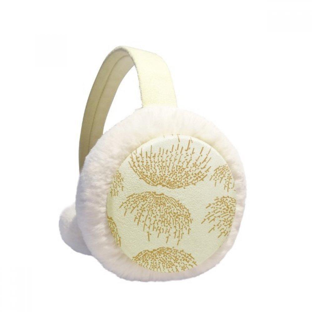 White Japanese Culture Autumn Winter Earmuffs Ear Warmers Faux Fur Foldable Plush Outdoor Gift