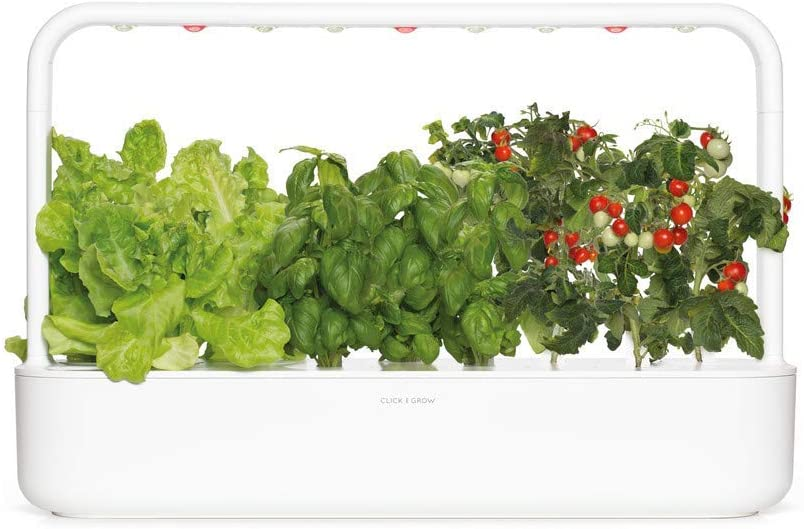 Click & Grow 9Smart Garden 9–Jardinera de Interior, Color Blanco, 60.5x 18.5x 40cm