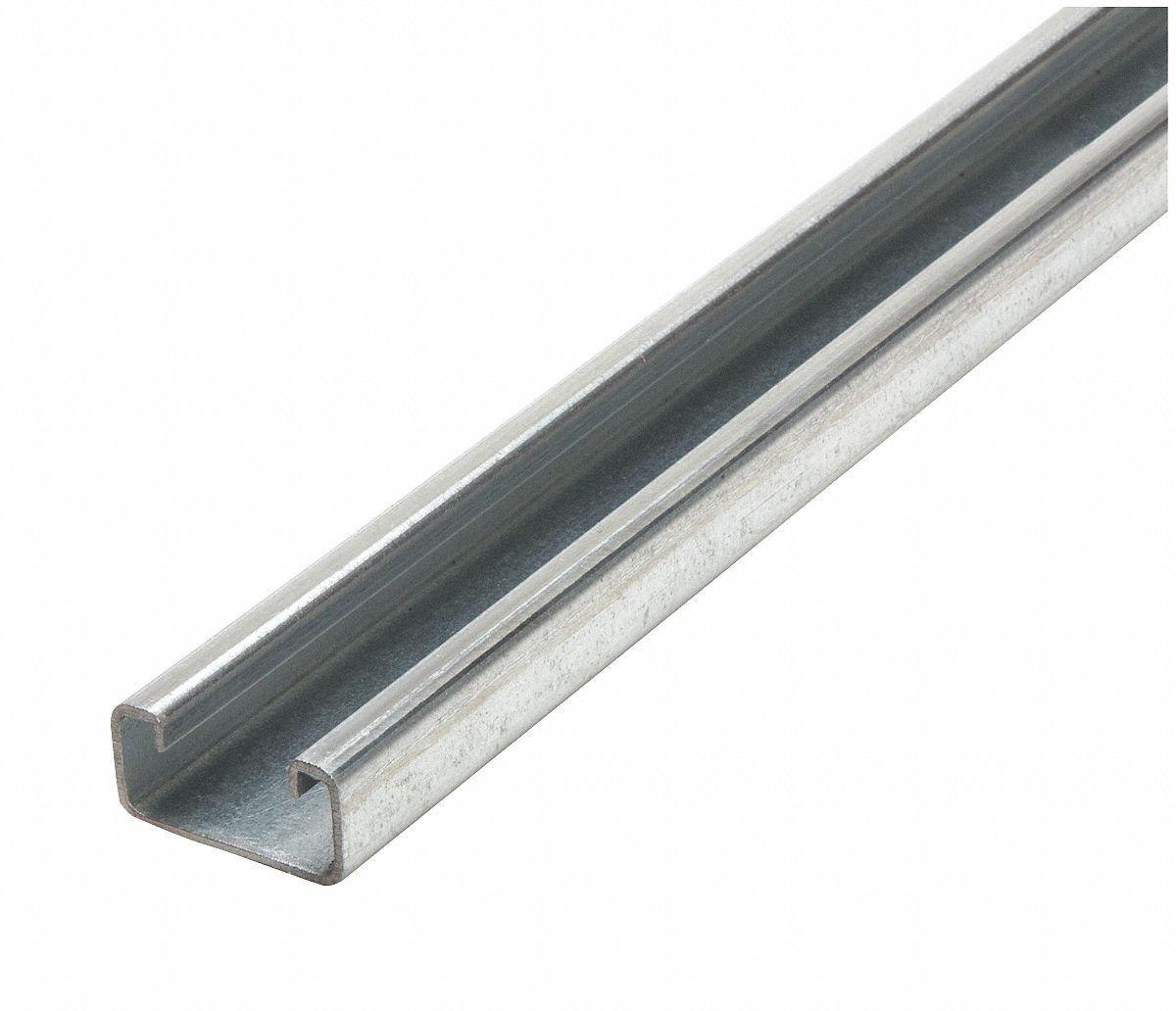 Solid Standard 1-5/8 x 13/16 Strut Channel, Pre-Galvanized Steel, 14 ga, 3 ft.