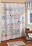 Unbranded Lake Words Fabric Shower Curtain Lake House Cabin Bath Decor Vacation Home